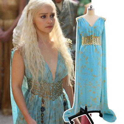 Game of Thrones Cosplay Daenerys Targaryen Halloween Kostüm Kostüm Perücke (Daenerys Halloween Kostüm)