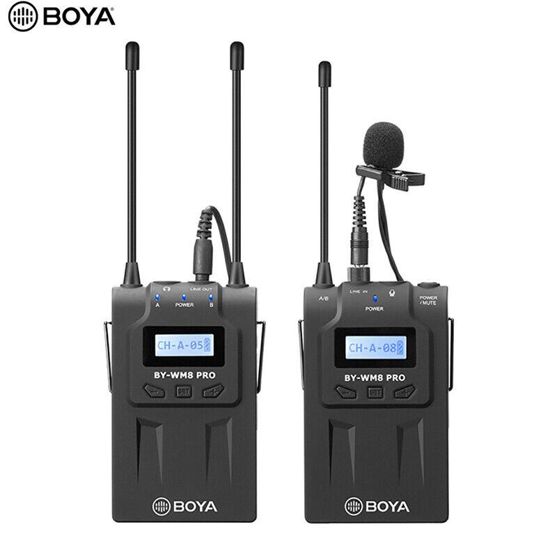 BOYA BY-WM8 Pro K1 UHF Wireless Microphone MIC System Dual C