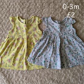 0-3m summer dresses