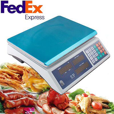 Digital Deli Meat Food Computing Retail Price Scale 30kg Fruit Produce Counting