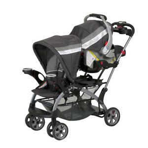 Baby Trend Sit N Stand Ultra Double stroller.with car seat. ....