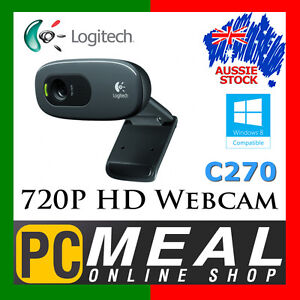 LOGITECH-C270-Webcam-720p-HD-Video-3MP-Camera-Skype-Built-in-Mic-USB-Laptop-PC