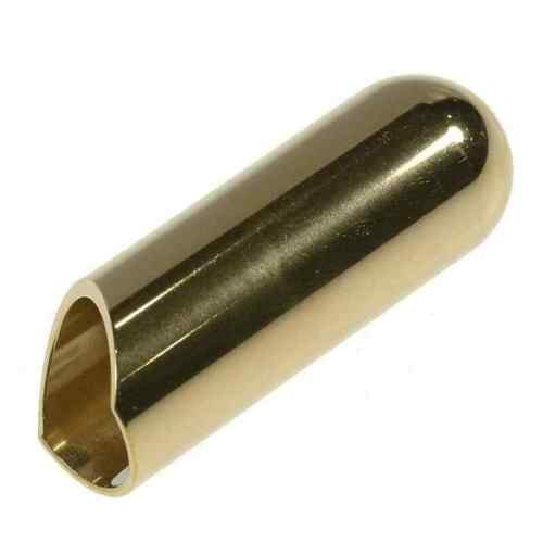 The Rock Slide Polished Brass Ball Tip Guitar Slide - Large