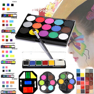 8/12/15 Color Face Body Paint Oil Painting Make Up Set Kit Halloween Fancy Dress