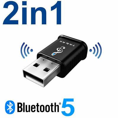 Adaptateur USB de récepteur d'émetteur audio Bluetooth 5.0 pour haut-parleur AUX de voiture PC TV