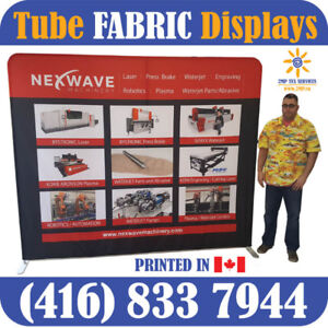 ANY Trade Show EZ Tube FABRIC Displays Walls Backdrops in 2 Days