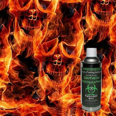 Hydrographic Film Water Transfer Hydro Dip 6oz. Activator Wfire Skull Film Kit