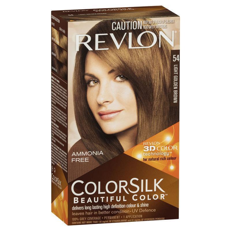 Revlon Colorsilk Hair Dye 54 Light Golden Brown Shade Colour