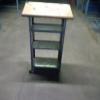 cart with ledge for writing