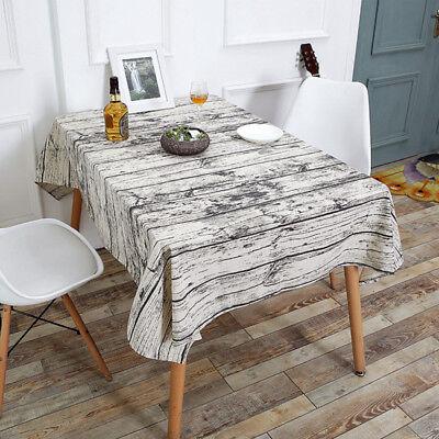 BeddingOutlet Vintage Wood Grain Table Cloth Simulation Patterned Rustic - Rustic Table Cloth