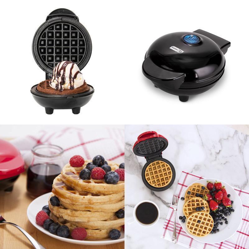 Mini Waffle Maker Dash Heart Shape Non-Stick Crepes Paninis