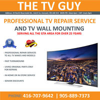 PROFESSIONAL TV REPAIR | WALL MOUNTING SERVICES - FREE ESTIMATES