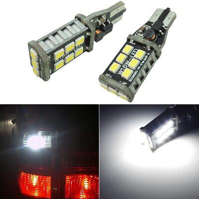 2pcs Xenon White 921 912 Car Backup Reverse Lights T15 927 906 15-SMD LED Bulbs