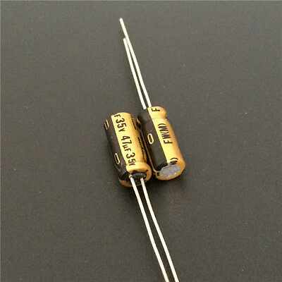5pcs 35v47uf 35v Nichicon Fw Standard Capacitor 5x11mm For Audio