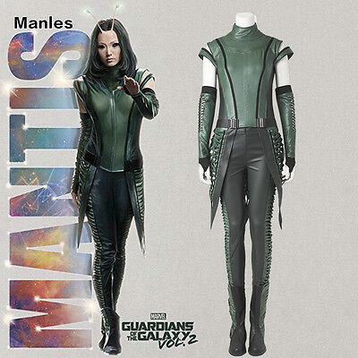 Guardians of the Galaxy Vol 2 Mantis Girl Costume Women Outfit Cosplay Halloween - Galaxy Outfit