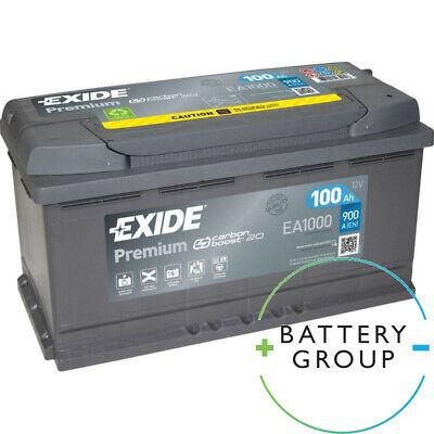 Exide Premium Carbon Boost EA1000 12V 100Ah 900A Starter Battery