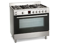 Montpellier MR90GOX Gas Range Cooker - Stainless Steel