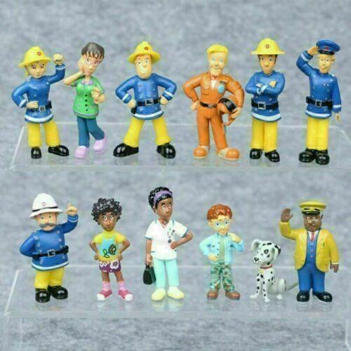 12 Stück/Set Feuerwehrmann Sam PVC Action Figuren Cartoon Puppe Kinder Spielzeug