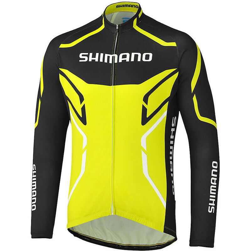 Mens Cycling Jersey Jacket Shimano Bike Motocross MTB Tight