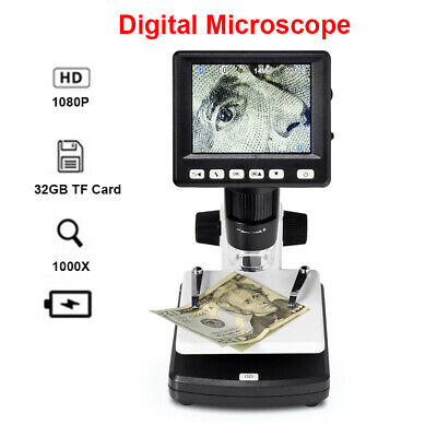 1000x Hdmi Electronic 14mp Lcd 3.5 Video Microscope Magnifier For Pc Computer