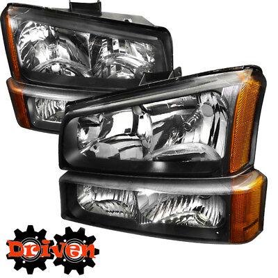 For 03-06 Chevy Silverado Truck 1500 HD2500 3500 Headlights +Turn Signal Amber