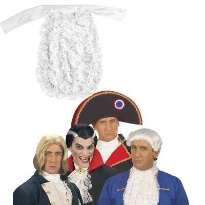 Jabot aus Satin, weiß Herren Spitzen-Jabot Kostüm Kragen Rokoko Barock  - Weiße Kragen Kostüm