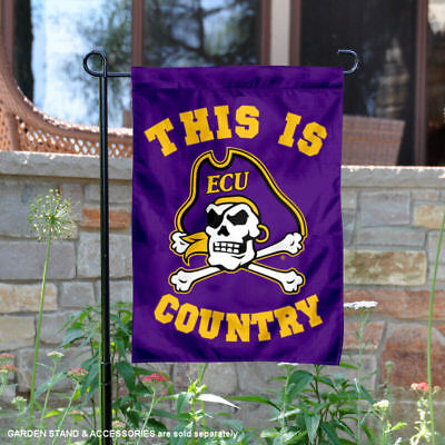 ECU Pirates This is Pirates Country Garden Flag and Yard Banner