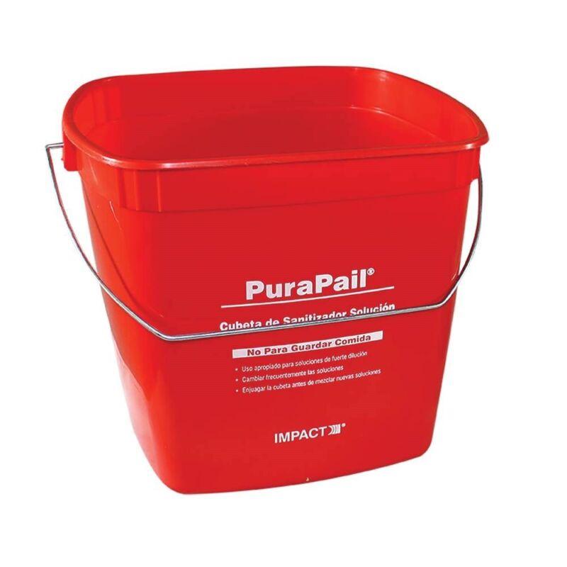 Impress Your Health Inspector?  6 Quart PuraPail Red Sanitizer Pail
