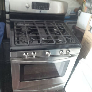 "30"" Kenmore Stainless Steel 5-Burner Gas Stove W/ Warming Drawer"