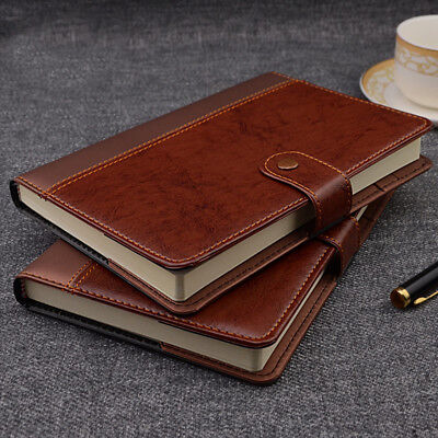 Leather Writing Pen (IDNY Refillable PVC Leather Writing Notebook Journal w Button Pen holder  )