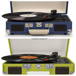 2X Crosley CR8005D Cruiser Deluxe Portable 3-Speed Turntables