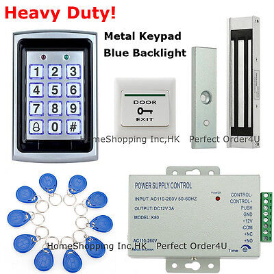 USA 125KHz RFID Card+Password Door Access Control System+Magnetic Door Lock TOP