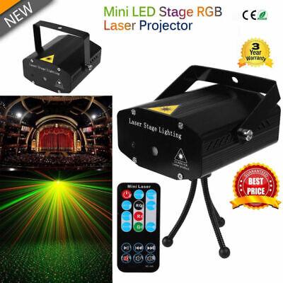 Laser Projector Mini LED Stage Lighting R&G Disco DJ Party Club Light Strobe UK