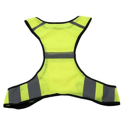 Reflective Running Gear Safety Vest High Visibility Adjustable Strap Bands T