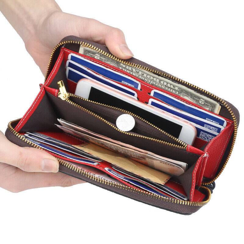 New Fashion Large capacity PU Leather Long Wallet For Women