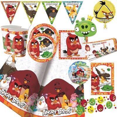 Angry Birds Party Geschirr Dekoration Luftballons Party Beutel ()