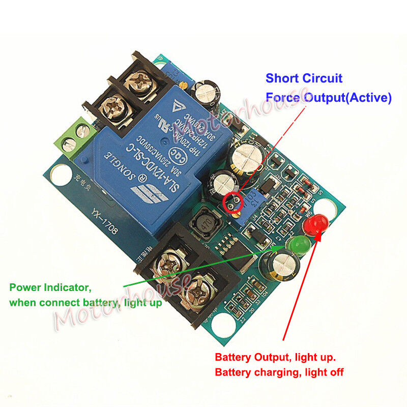 Auto Relay Switch 12V 48V Lead Acid Battery Module Cut Off Protection Controller