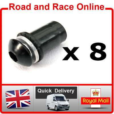 WINDSCREEN SCREWS WELL NUTS BLACK ALUMINIUM FIT ALL HONDA SUZUKI KAWAS
