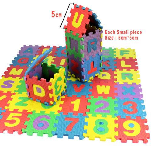 36 pcs Baby Kids Alphanumeric Educational Puzzle Blocks Infant Child Toy Gifts