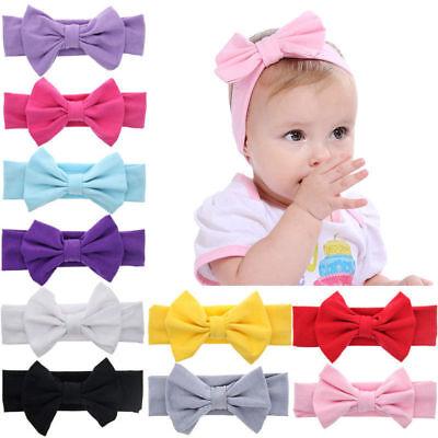 Haarband Baby BAUMWOLLE Mädchen elastisch Schleife  Stirnband Baby Haarschmuck  Mädchen Band