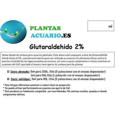 Glutaraldehido al 2% (Glutar 2%) Abono Antialgas 1000ml