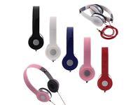 Earphones headphones wireless white pink new