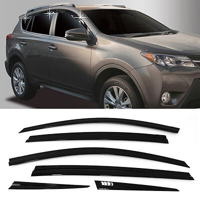 Smoke Window Sun Vent Visor Rain Guards 6Pcs D754 For TOYOTA 2013 - 2019 RAV4