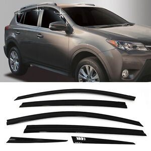 Smoke-Window-Sun-Vent-Visor-Rain-Guards-6P-A176-For-TOYOTA-2013-2015-2016-RAV4