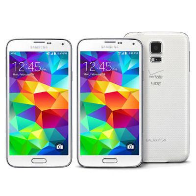 "Libre 5.1"" Samsung Galaxy S5 G900V 4G LTE 16GB 16MP TELEFONO MOVIL Blanco White segunda mano  Embacar hacia Argentina"