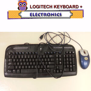 LOGITECH KEYBOARD AND MOUSE - ALSO DELL KEYBOARD WITH USB CONNEC
