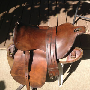 1915 Canadian military saddle for sale