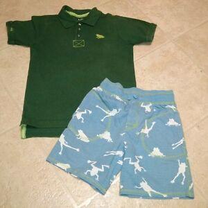 Boys size 7 Hatley Frog Print Summer Set
