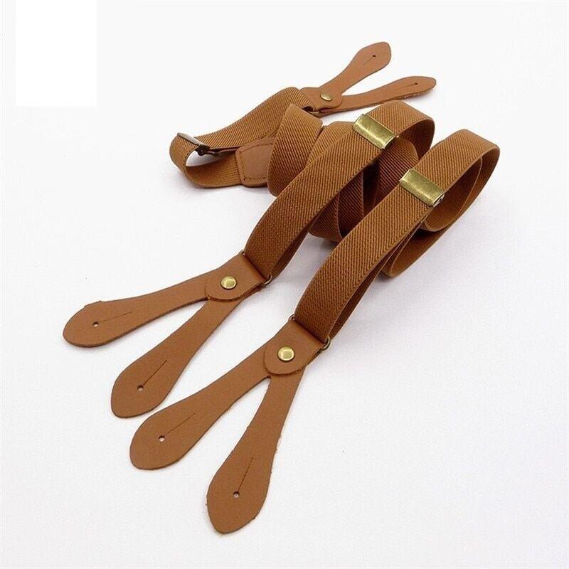 Suspender Strap England Button Strap Wide Clip Vintage Fashi