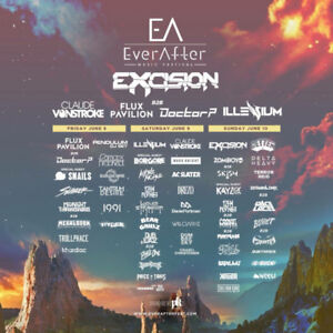 Ever After Music Festival Hard Copy Tickets